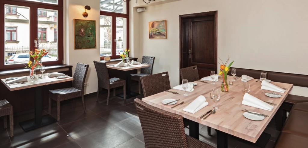 Restaurant Daniel in Dresden von innen.