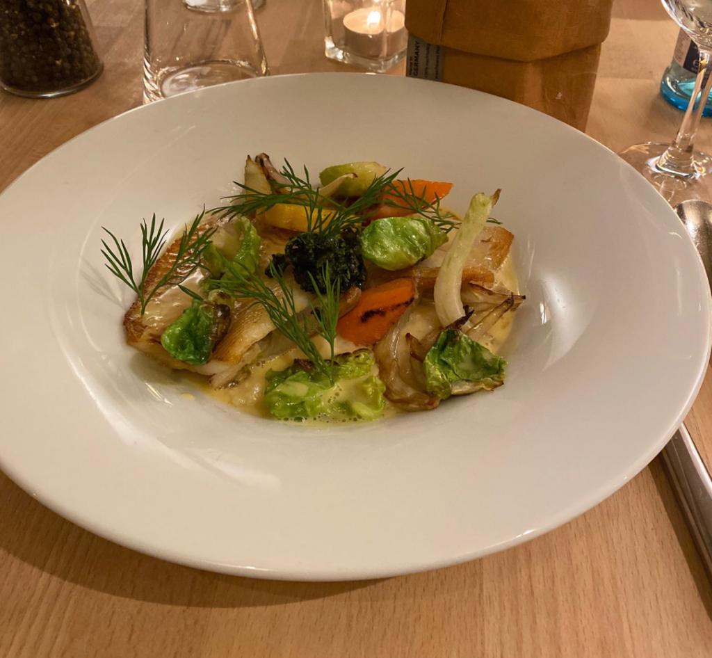 Ein Gericht vom Restaurant Daniel in Dresden